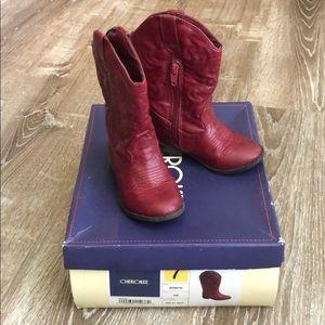 Cherokee Georgia Boots Red